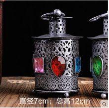 Gratis verzending marokko stijl ijzer antieke lanternwith gratis gift thee kaars bedienen outdoor kaars houder decoratie(China (Mainland))