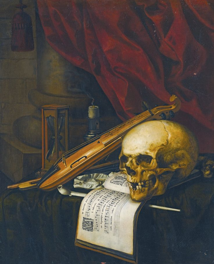 Carstian Luyckx ANTWERP 1623 - ? AFTER 1657 A VANITAS STILL LIFE WITH A SKULL