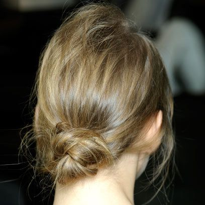 Christopher Kane: S/S 2012: Low Loose Bun: Hair Trend