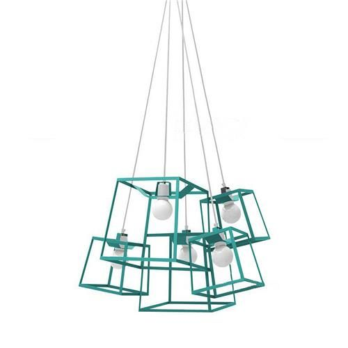 Pendant Lamp Shade American Style Round Modern Iron Lamp Cover Vantage Creative Decoration Light -Green