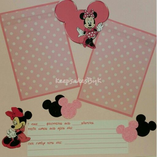 Charming Minnie Mouse Baby Book Scrapbook