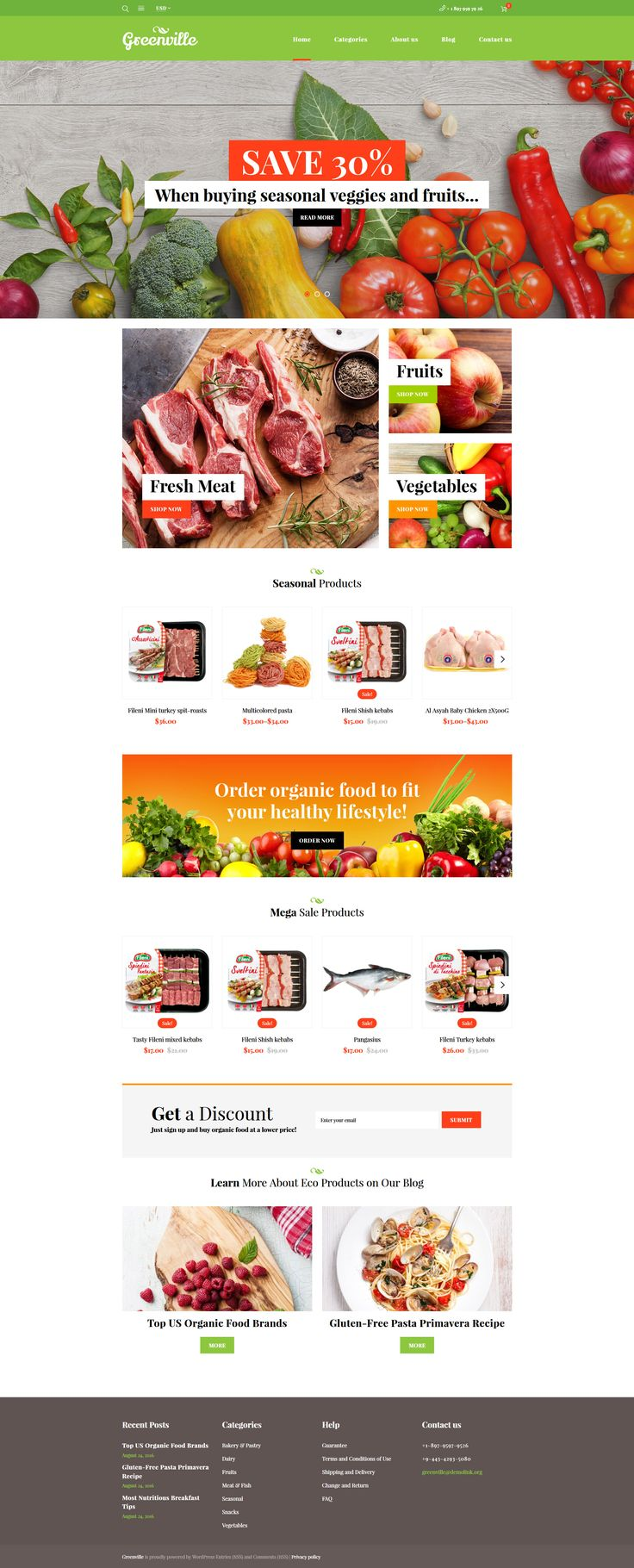 23 best woocommerce themes images on pinterest templates and plants greenville organic food restaurant woocommerce theme http templatemonster pronofoot35fo Choice Image