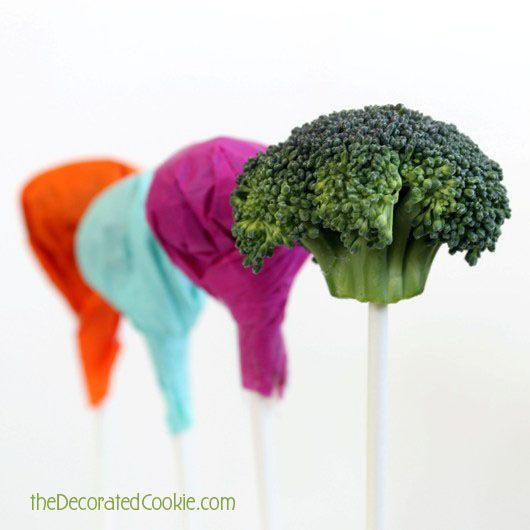 "April Fools Day for the kids: ""Lollipops"" that are really broccoli,"