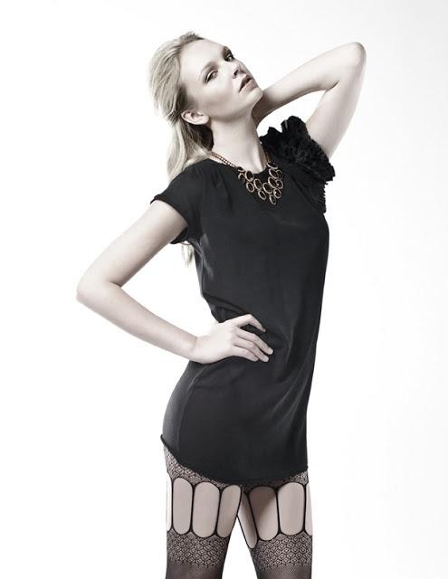 Black and White Photographer: Kaity Body Stylist: Carmen Tsang Model: Jessie G leather, lace, stockings, editorial, cutouts, little black dress