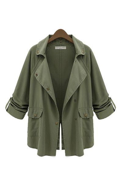 Goodnight Macaroon Military Green Parka Jacket