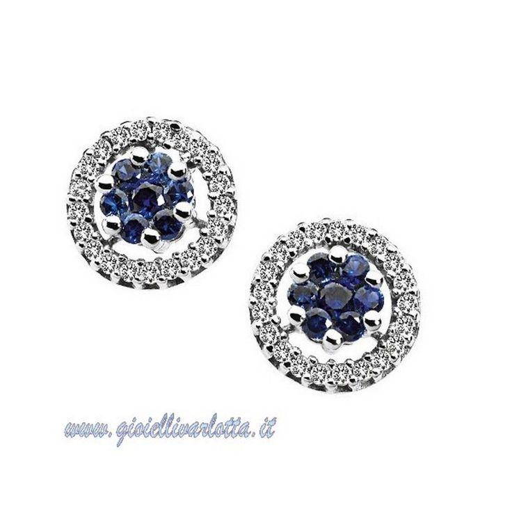 Comete Gioielli Divina Orecchini con zaffiri blu e diamanti ORB 519