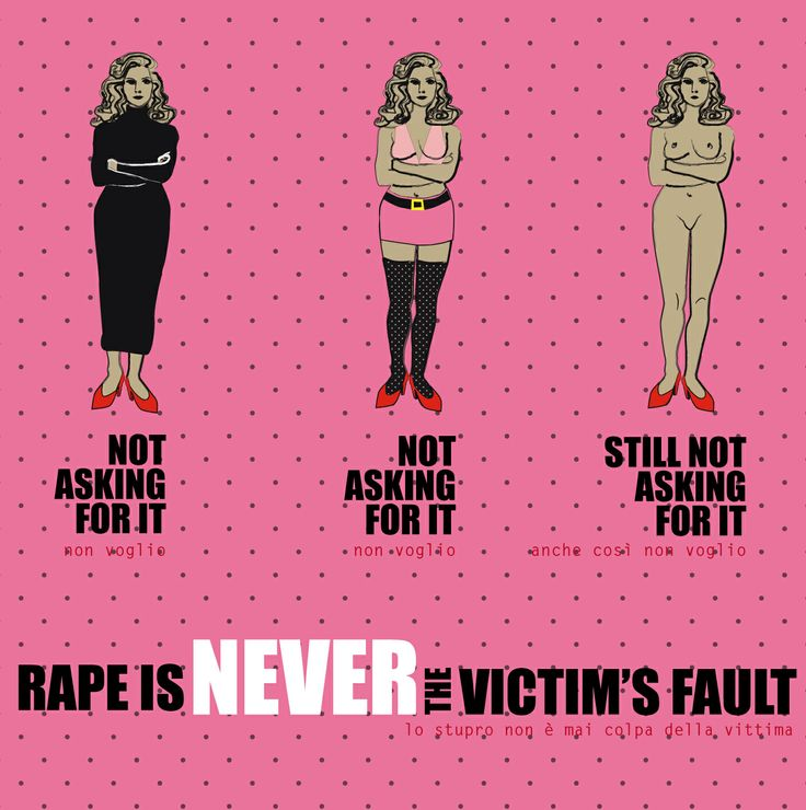 never the victim's fault