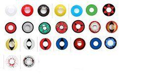 lentilles pour halloween de couleur sans correction fantaisie crazy déguisement annuelles valables 1 an (all red vampire)