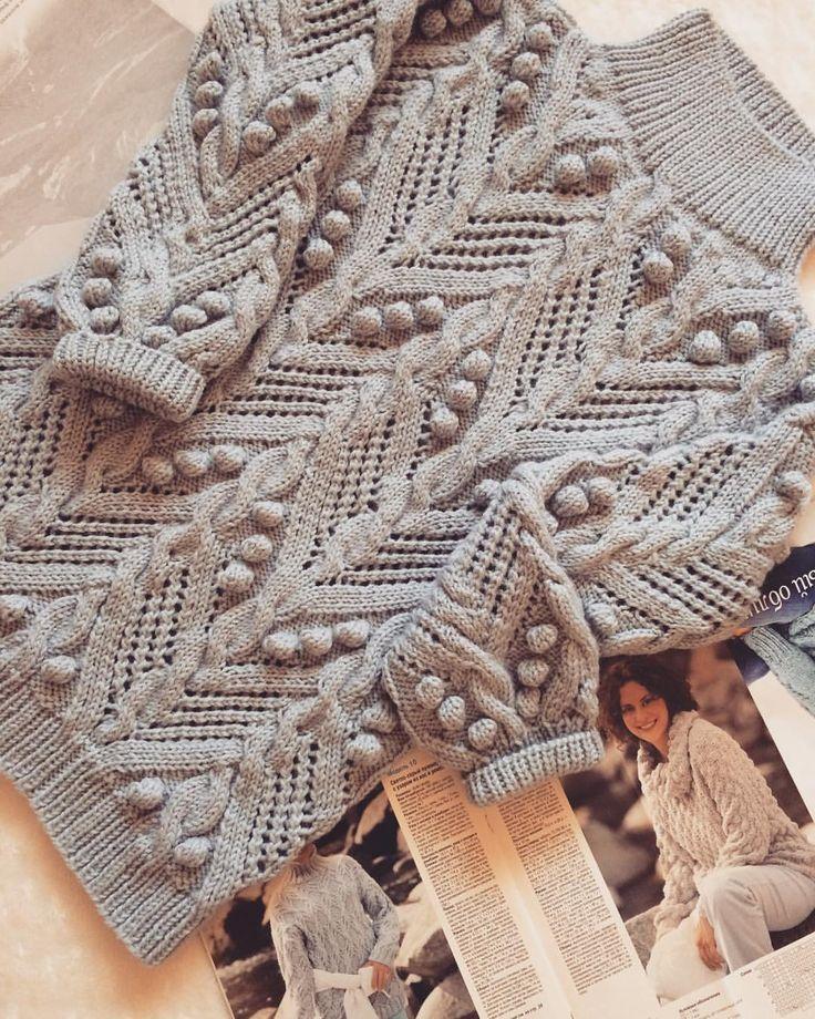 #люблювязать #вязание #вязаниеспицами #свитер #вязаныйсвитер #рукоделие #творчество #свитерсшишечками #knitstagram #knitting #knitwear #knit #handmade #handwork #альпака