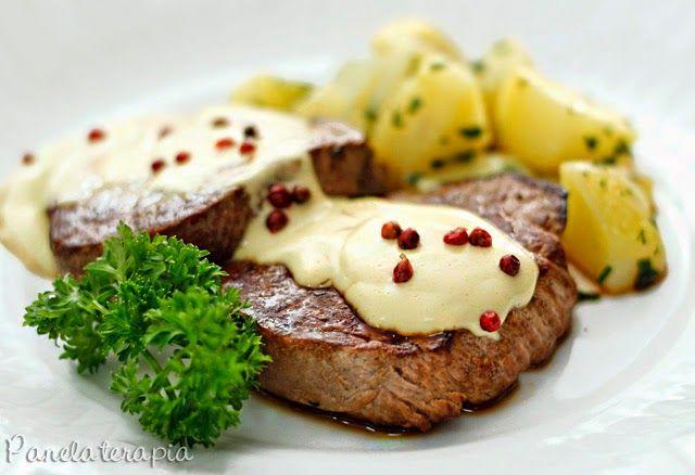 PANELATERAPIA - Blog de Culinária, Gastronomia e Receitas: Filé com Molho de Mostarda e Batata Sauté