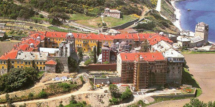 VISIT GREECE  Monastery of Iveron in #Athos #Macedonia #Greece