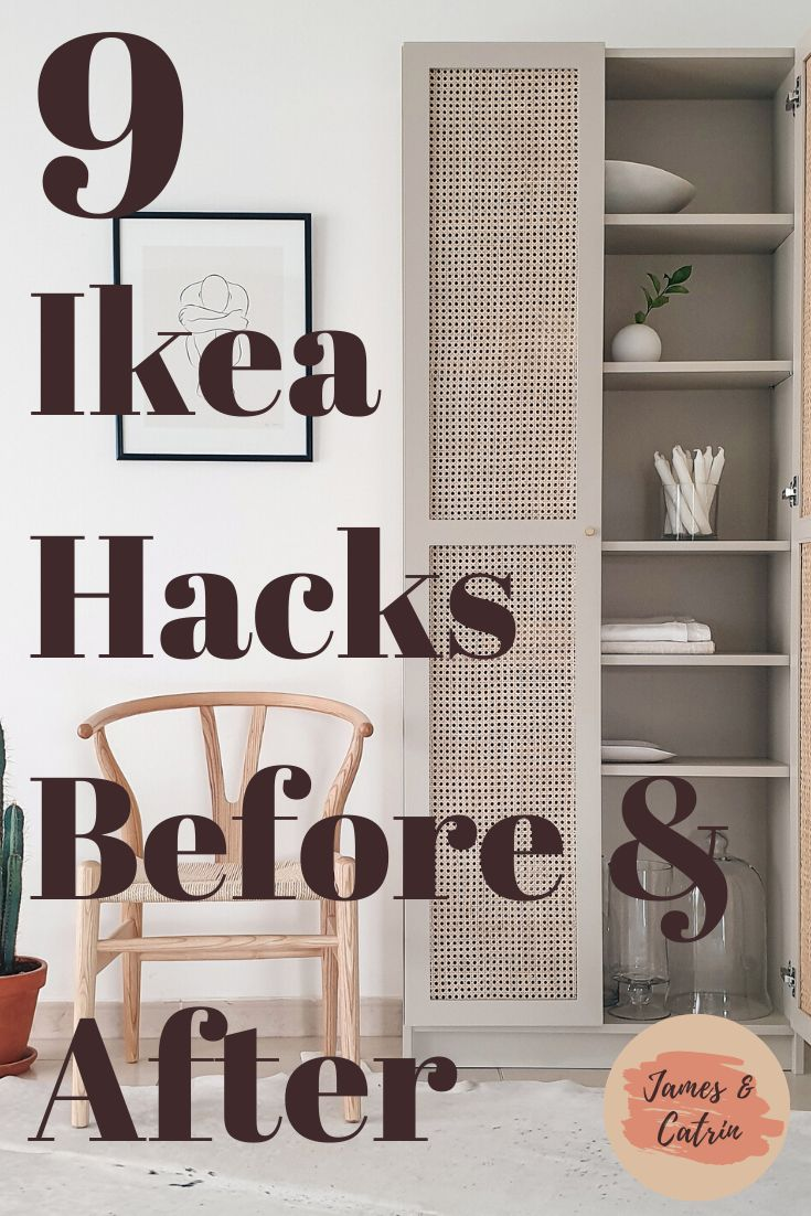 See some amazing transformations with these Ikea hacks. From bare Ikea products to stylish pieces of furniture with some creative ideas. These Ikea hacks will blow you away! #ikeahacks #beforeandafter #ikeafurniture #ideas #ikeahack #jamesandcatrin