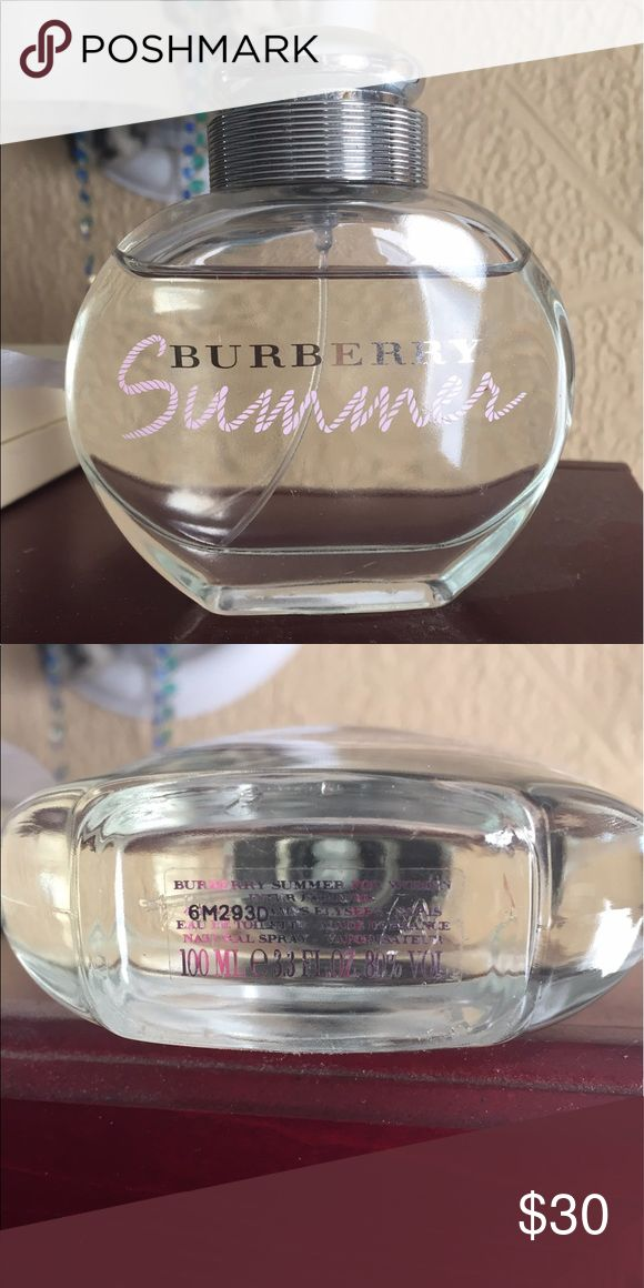 Women's Burberry summer perfume 3.3 oz bottle Ladies Burberry summer perfume only sprayed a few times, decided it wasn't the scent for me Burberry Other