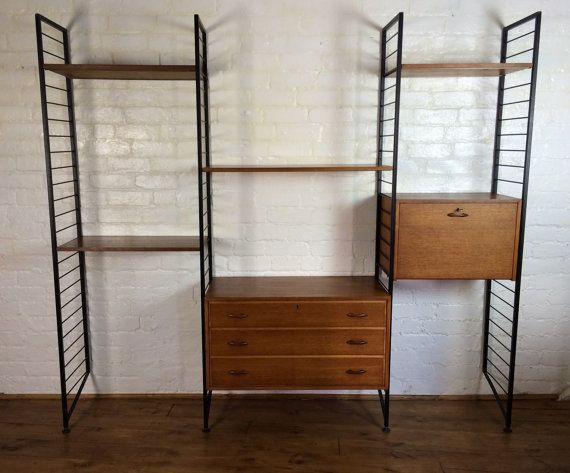 mid century ladderax modular sheving system