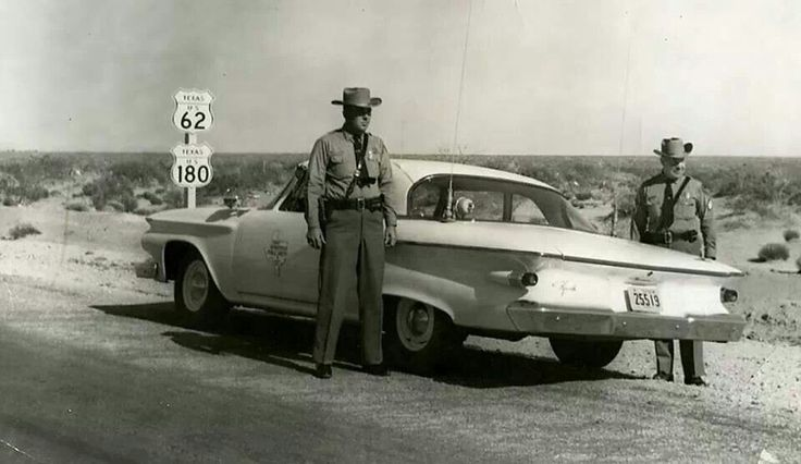1961 tx highway patrol somewhere in west tx texas