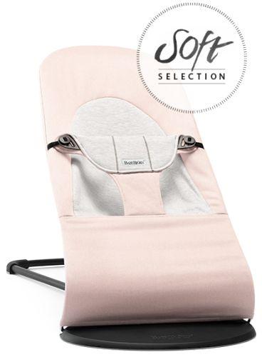 Bouncer Balance Soft • Light pink/Grey • Cotton/Jersey