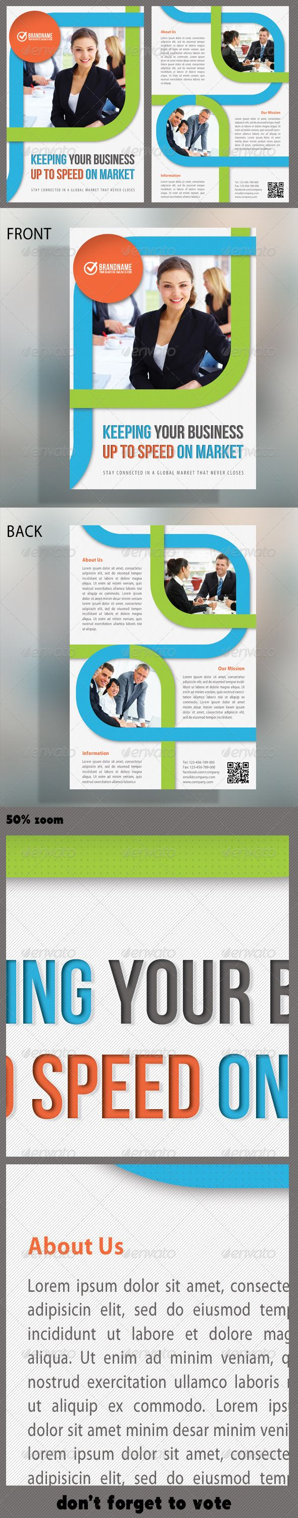 Best Print Templates Images On Pinterest Print Templates - Double sided brochure template