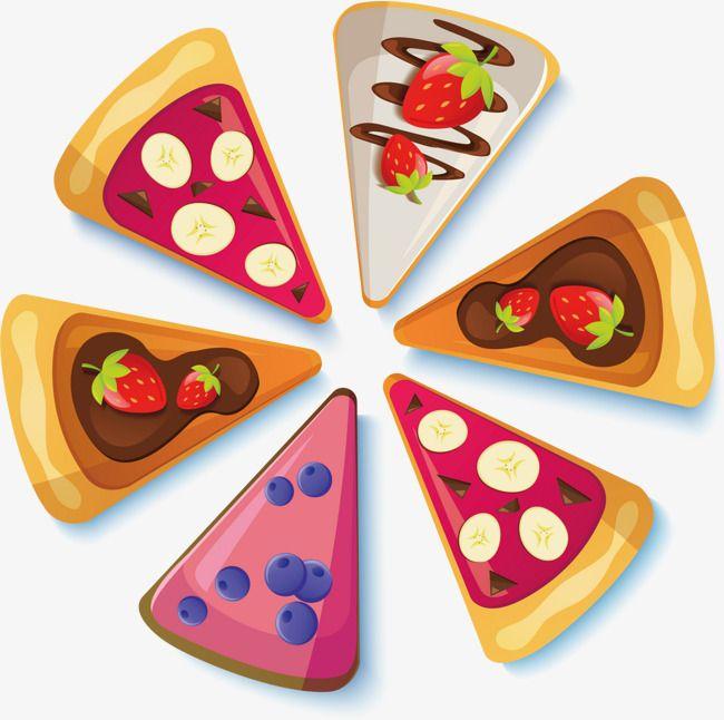 Pizza Deliciosa Vector Pintados A Mano Pizzas Dulces Manos Dibujo Hecho A Mano
