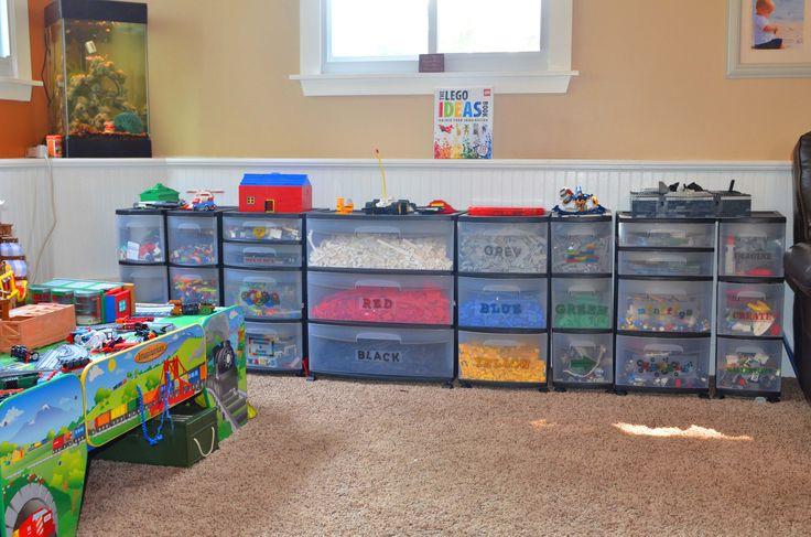 Lego Organizing. Lego Storage. Lego Organization.