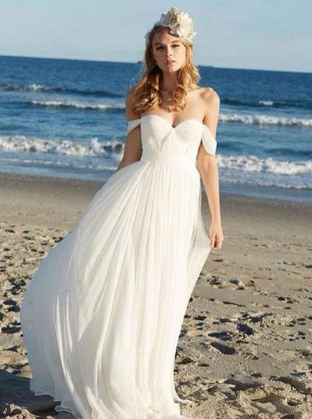 Romantic Wedding Dresses Off The Shoulder Bridal Dress Boho Bridal