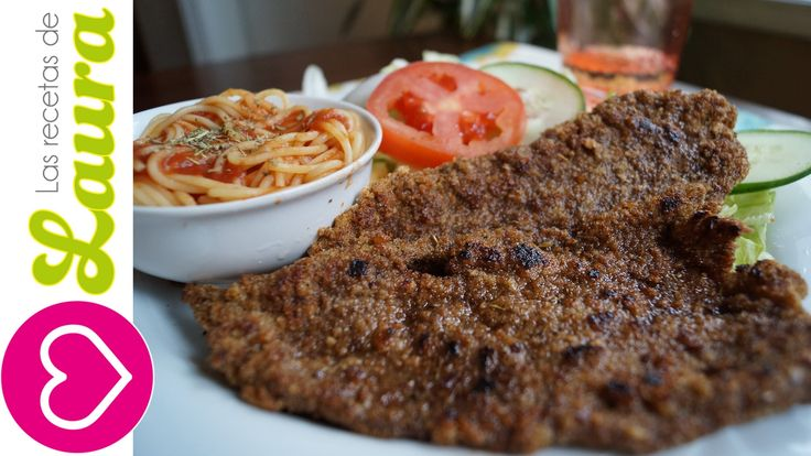 Milanesa de Res ¡Sin Freír! Carne empanizada  Comida Saludable Breaded meat