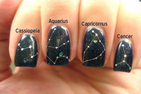 Genius!: Nails Art Summer Toe Stars, Manicures Ideas, Stars Constellations, Stars Nails, Nails Polish, Constellations Nails, Long Nails, Toe Nails Constellations, Spaces Nails
