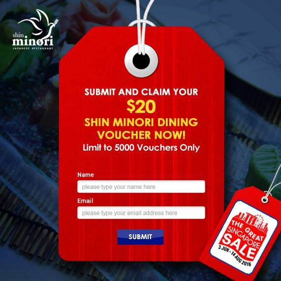 Shin Minori GSS Claim $20 Dining Minori Vouchers 3 Jun to 14 Aug 2016 - Why Not Deals