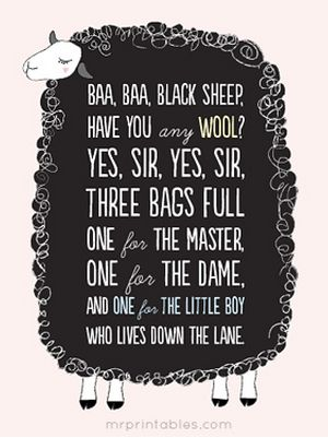 cute free sheep printable poster to download