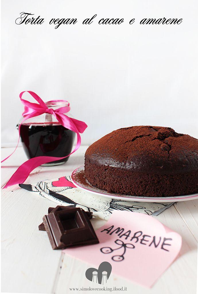 torta vegan cacao e amarene - chocolate and cherry vegan cake