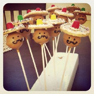 Cinco de mayo cake pops... For lml