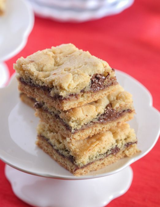 Nutella Butter Cookie Bars - Picky Palate