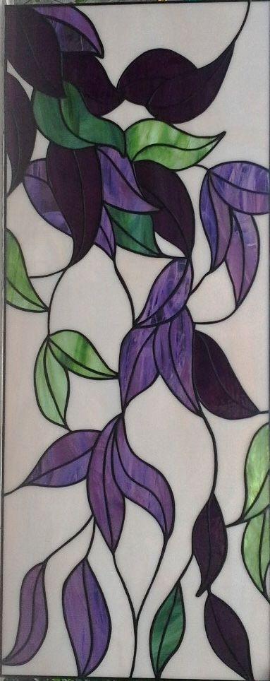 Purple Flower Stained Glass Window