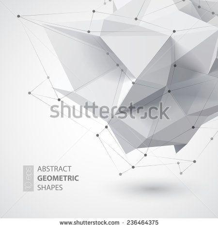 Low polygon geometry shape. Vector illustration - stock vector