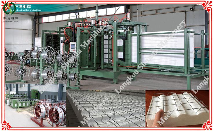 2016 NEW!China high quality lightweight EVG 3D EPS steel wire mesh welding Panel Machine For hot sale