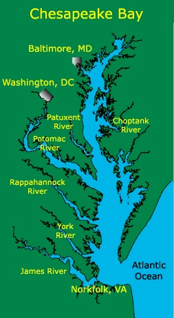 The Chesapeake Bay and its Rivers