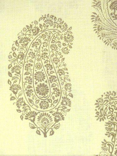 Paisley  Natural linen. Linnen voor meubels, gordijnen en vouwgordijnen.
