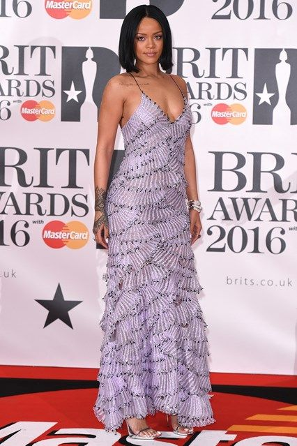 Rihanna in an Armani Privé gown - Brit Awards 2016 - February 24, 2016