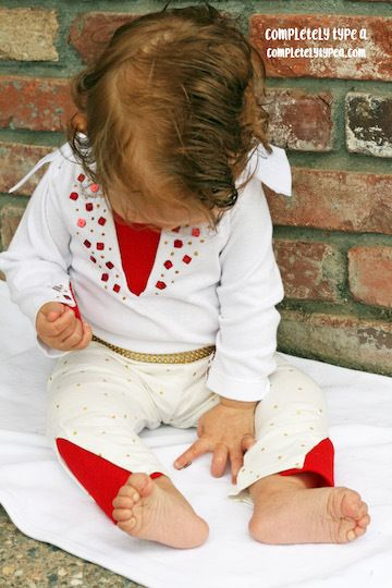 NO SEW infant Elvis costume!
