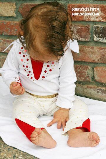 NO SEW infant Elvis costume!