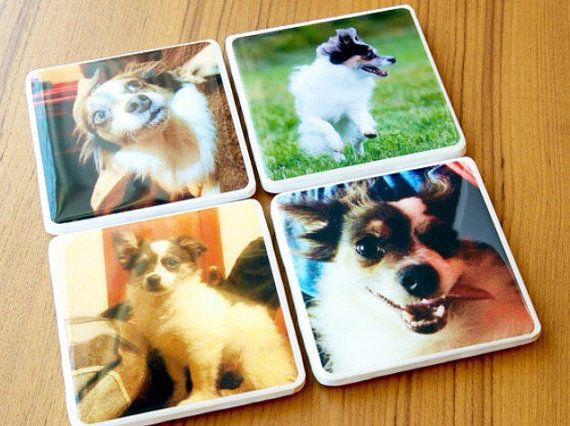 Personalized Coasters Custom Coasters Gift by SadiePeachDesigns