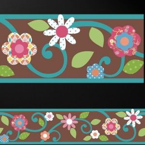 Vine with Flowers Decor Wall Sticker