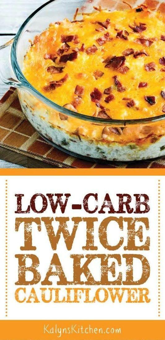 Low-Carb Twice-Baked Cauliflower (Video) – #Caulif…