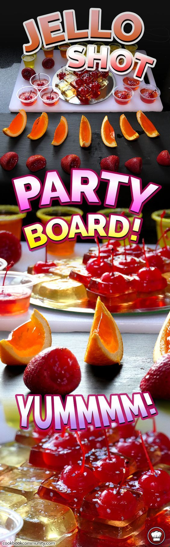 JELLO SHOTS PARTY BOARD - All the best Jello Shot recipes in a beautiful spread for your guests!