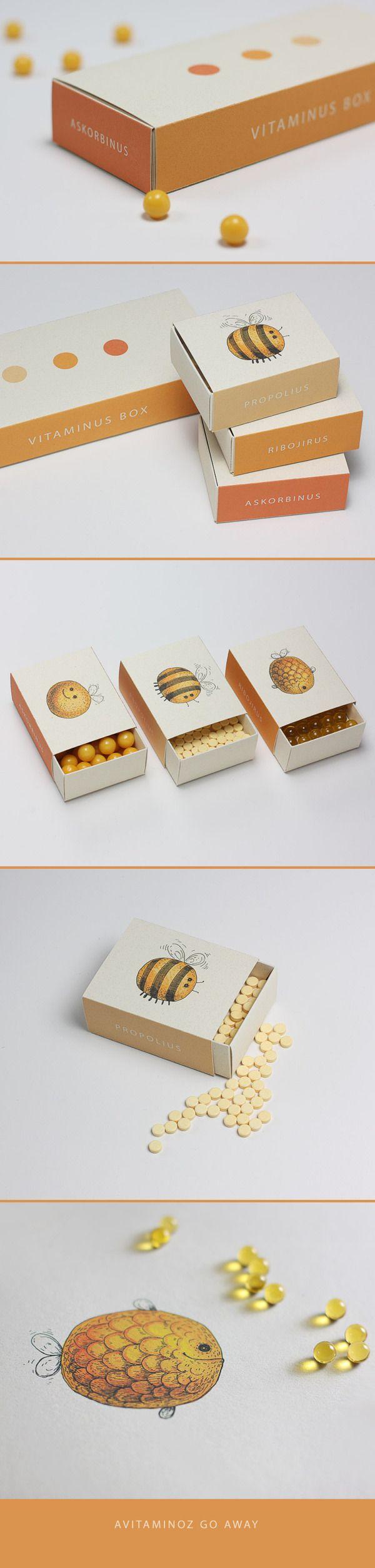 Alguém aí já viu embalagem de Vitaminas mais fofa do que essas aqui?  Designed by Multiple Owners