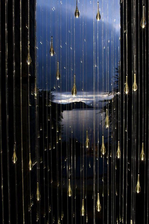 Bruce Munro's Spectacular Light Shower Installations
