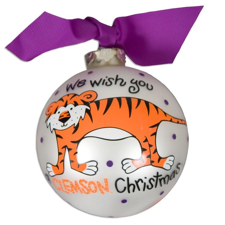 Clemson Christmas Tree: Clemson Tiger We Wish Ornament #clemson