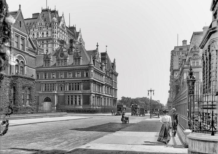 Fifth Avenue, The Vanderbilt Mansion, The Plaza Hotel, 1910, 5th Avenue…