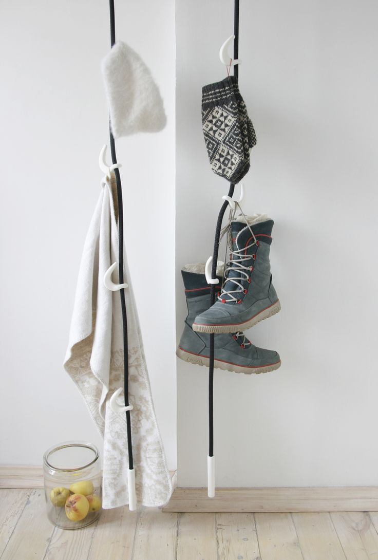 Nörk Rack, Rope Clothes Hanger By Tamma Design. Clothing Storage Concepts.