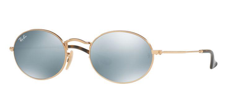 Ray-Ban for unisex rb3547n  - 001\/30 (GOLD\/grey flash), Designer Sunglasses Caliber 51