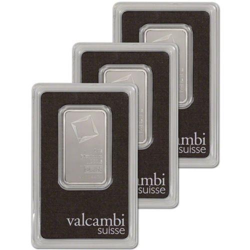 Details About 1 Oz Platinum Bar Valcambi Suisse 999 5 Fine In Assay Three 3 Bars Ebay